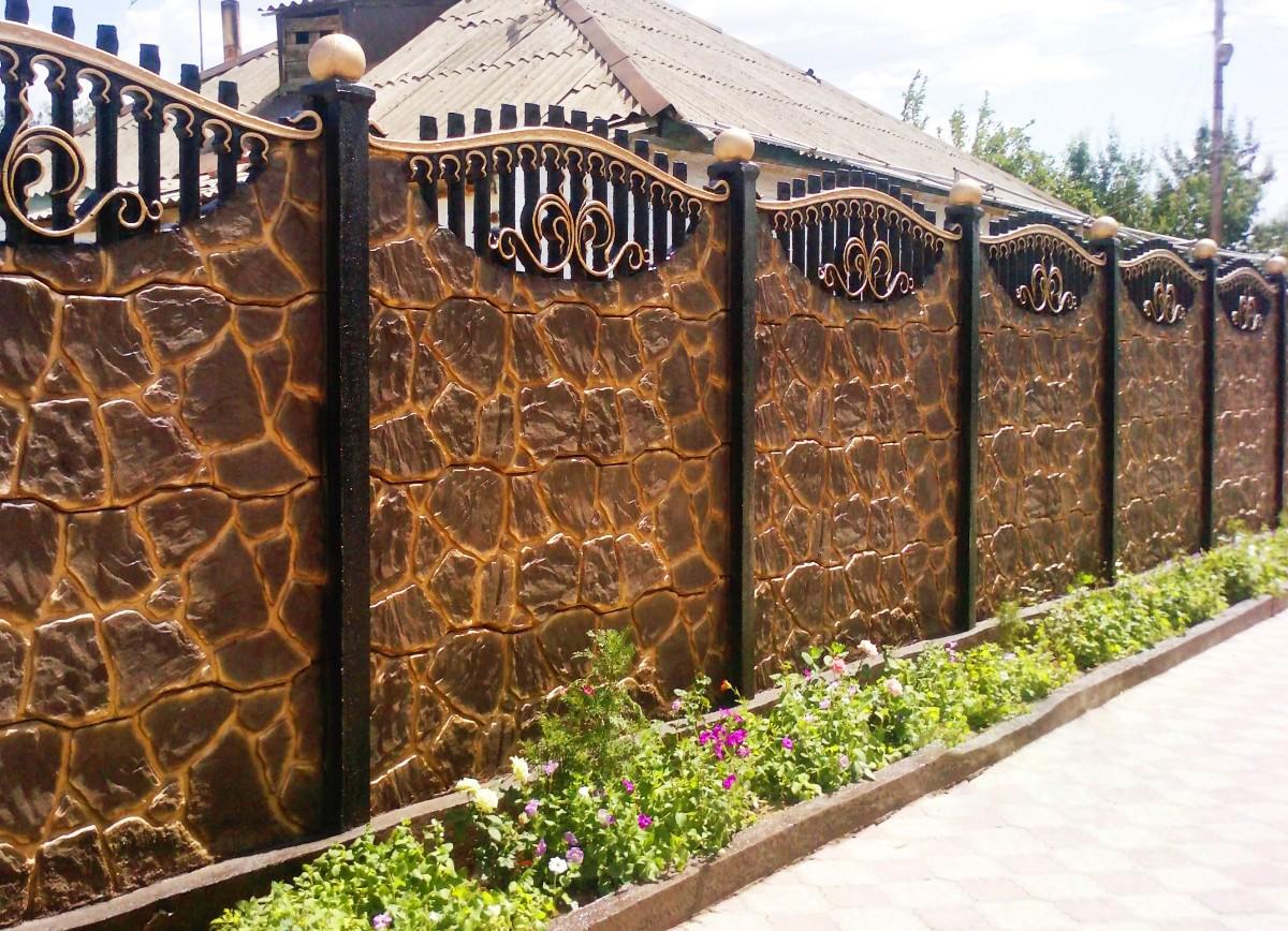 Купить забор из бетона в петербурге панелями фибробетона